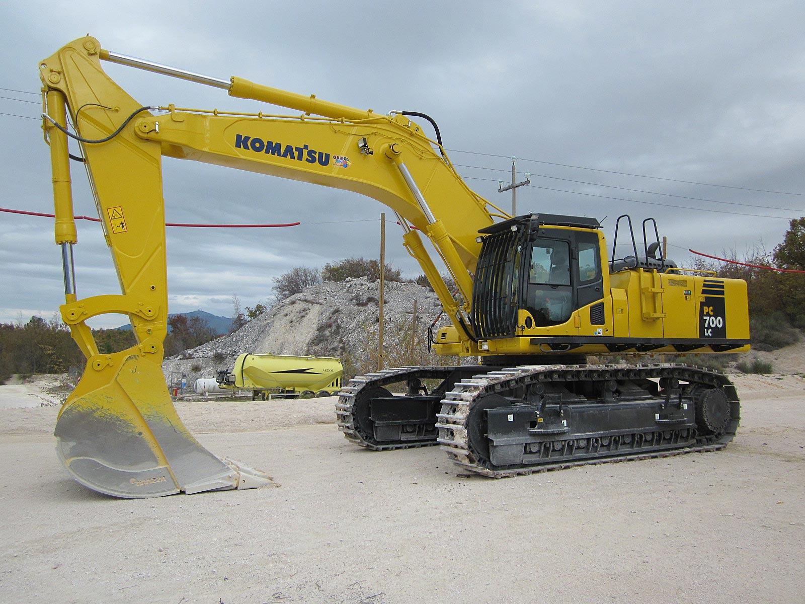 griglia di protezione per escavatore komatsu
