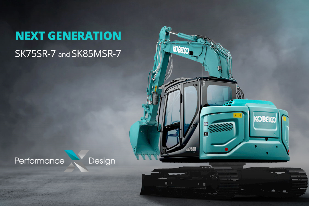 KOBELCO SK75SR La nuova serie di escavatori 8-9 ton, made in JAPAN